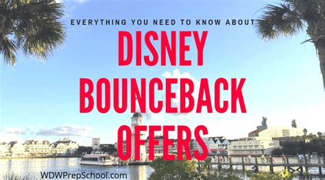 disney bounceback offers wdw prep
