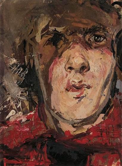 Self Portrait Lenkiewicz Robert Paintings Oil Robertlenkiewicz