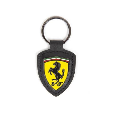 ferrari leather shield keychain fb