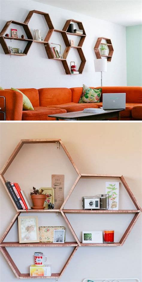 diy wall shelves  living room ideas  bedroom wall