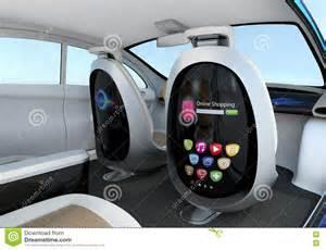 Electric Chair Plans by Autonomous Car Interior Concept Stock Illustration Image