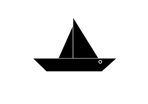 Toy Boat Outline by Clipart Boat