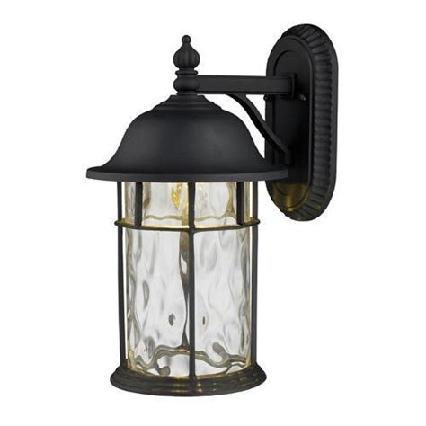 lapuente matte black one light outdoor led wall mount with