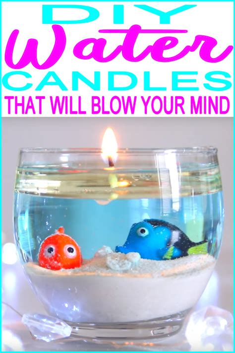 water candles diy water candle project easy