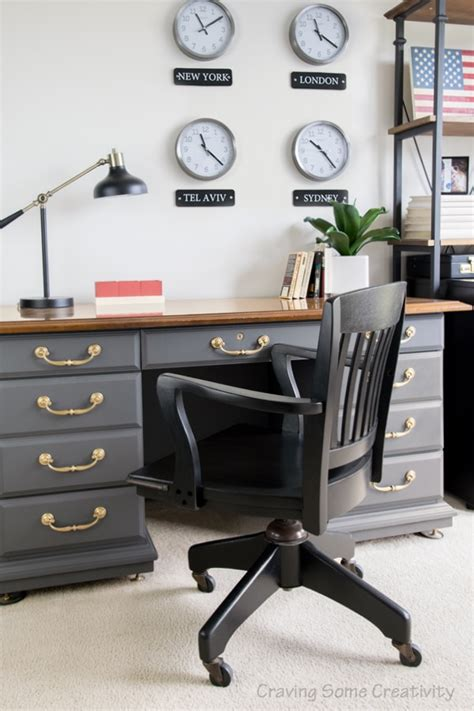 Masculine Office Wall Decor one room challenge masculine office reveal craving