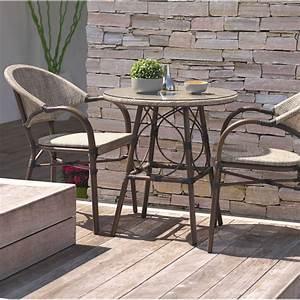 Table Pour Terrasse : salon de jardin ushuaia 2 personnes leroy merlin ~ Teatrodelosmanantiales.com Idées de Décoration