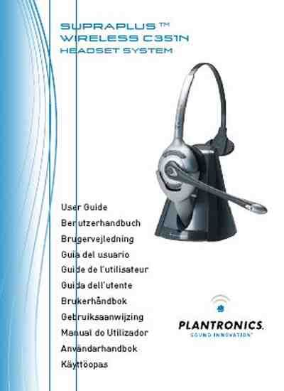 headset für handy plantronics supraplus wireless cs361ntelefon handy