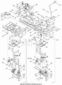Troy Bilt 13ap609g063 Ltx1842  2003  Parts Diagram For Pto