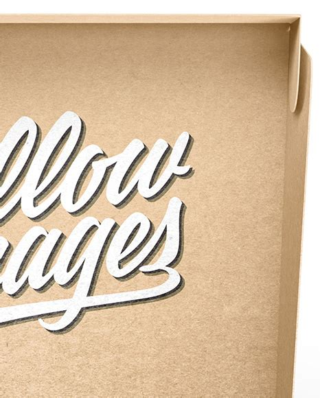 Free kraft paper disposable food bag packaging mockup psd. دانلود موکاپ جعبه Opened Kraft Paper Box Mockup 33406 ...