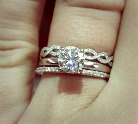 wedding band engagement ring and infinity anniversary band for gene pinterest wedding