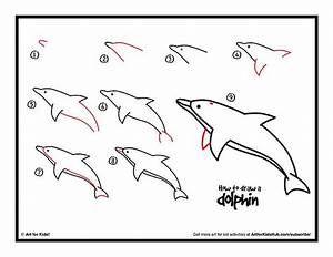 How To Draw A Dolphin - Art For Kids Hub - | Dolphins, For ...