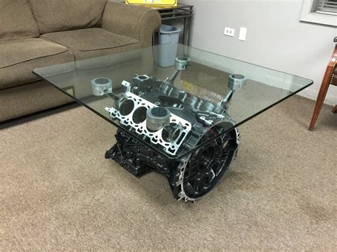 V8 Engine Block Coffee Table