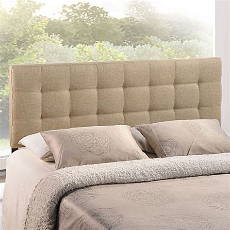 26474 beige tufted bed modway lilly tufted linen headboard bed bath beyond