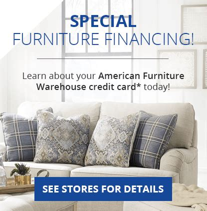 There's no monthly service fee to use bill pay. Furniture Financing Made Easy | American Furniture Credit Card | AFW.com