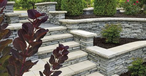 unilock brewster add vertical dimensions with pillars steps and retaining