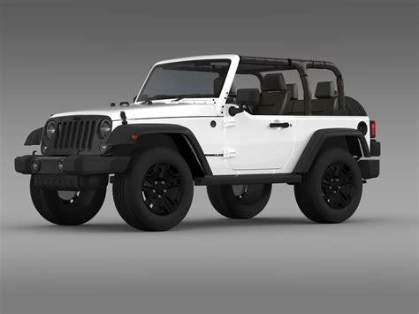 Jeep Wrangler Willys 2014 3d Model