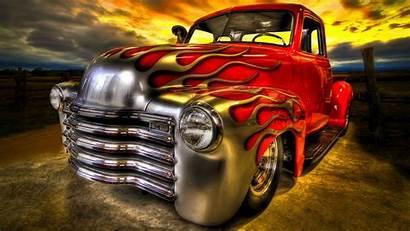 Trucks Truck Classic Rod Chevy Fire Desktop