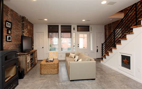 Urban Lofts  Rustic  Living Room  Richmond  By Frazier