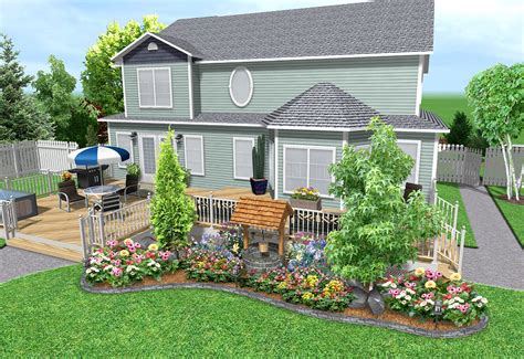 Free Backyard Design - landscape design software features realtime landscaping plus