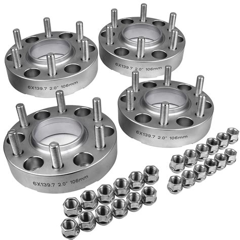 4pc 2 Inch 6 Lug Hub Centric Wheel Spacers Toyota T100
