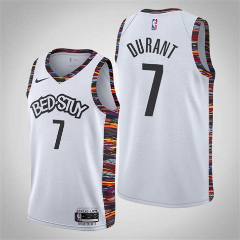 Outside of the utah jazz, toronto raptors and the dope miami heat 'miami vice' jerseys, every other nba club updated or refreshed their alternate jerseys. Nets Kevin Durant White 2020 Season City Jersey