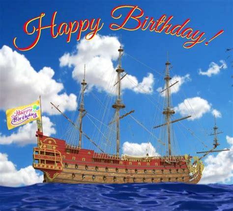 happy birthday tall ship  happy birthday ecards greeting cards