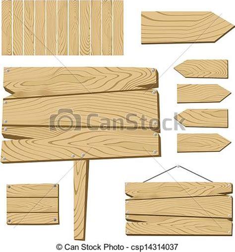 vecteurs de bois objets planche signe ensemble de signe planche csp14314037