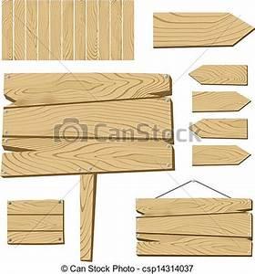 Planche à Dessin En Bois : vecteurs de bois objets planche signe ensemble de ~ Zukunftsfamilie.com Idées de Décoration