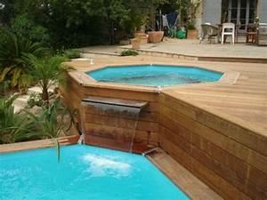charmant amenagement autour piscine hors sol 4 petite With amenagement autour piscine hors sol