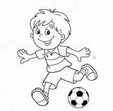 Football Coloring Soccer Pages Ball Drawing Cartoon Outline Print Stadium College Boy Getdrawings Footbal Printable Ai Line Getcolorings sketch template