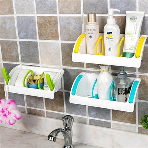 Buy Kitchen Organisers India by Suction Cup Kitchen Sink Holder Bathroom Plastic Storage