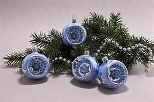 Weihnachtskugeln Glas Lauscha : 4 weihnachtskugeln 6 cm winterlandschaft hellblau aus lauscha ~ A.2002-acura-tl-radio.info Haus und Dekorationen