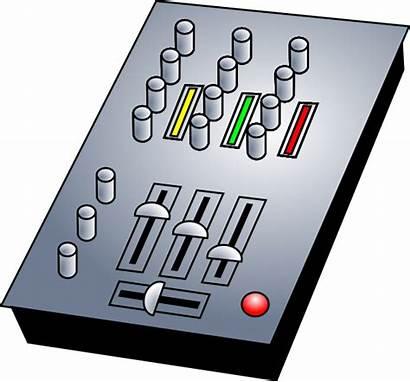Dj Mixer Clip Audio Clipart Mixing Vector