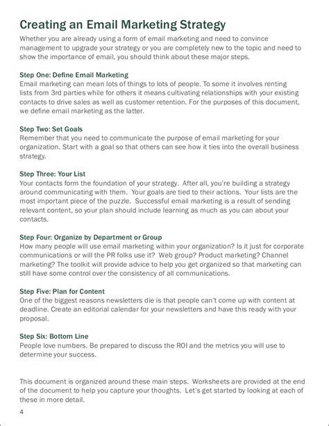 Marketing Via by 9 Email Marketing Exles Pdf Word Exles