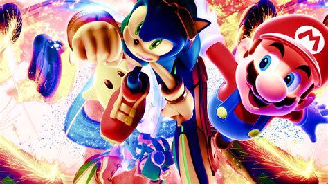Mario vs Sonic Wallpaper