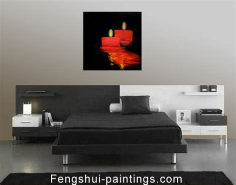 Abstract Romantic Candles Feng Shui Bedroom Painting