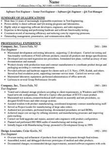 test manager resume template resume for software testing engineer