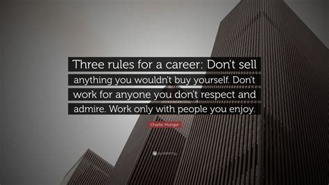charlie munger quote  rules   career dont