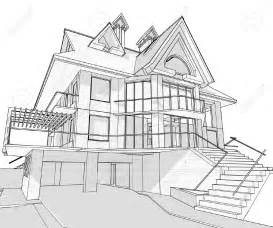 Stunning Images Home Sketch Plans by Simple House Drawing Sketch Modern House
