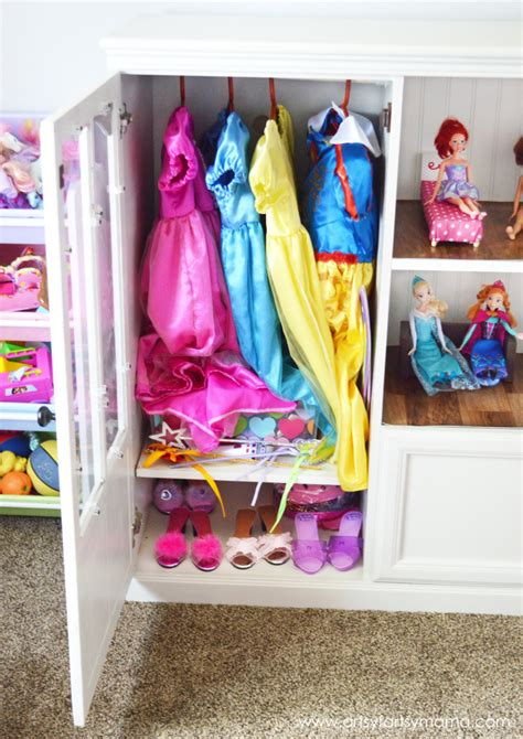 toddler dress up closet diy dollhouse artsy fartsy