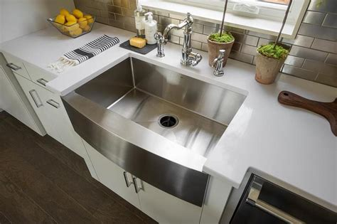 stainless steel apron sink white cabinets apron front stainless steel kitchen sink with towel bar