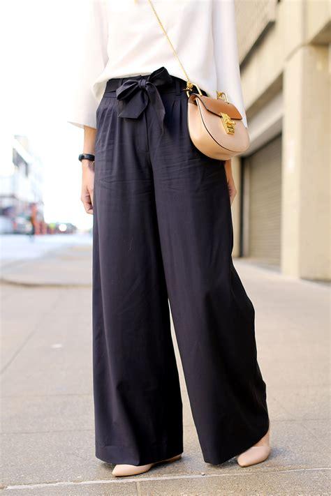 Navy Wide Leg Pants Fashion Jackson
