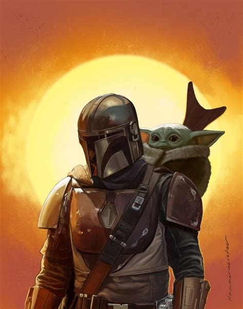 The Mandalorian and The Child aka Baby Yoda (Star Wars ...