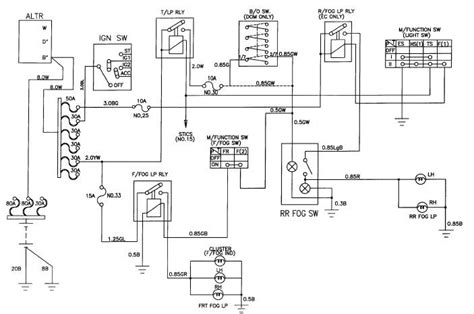 Bmw E46 Tow Bar Wiring Diagram by Daewoo Korando Front And Rear Fog L Schema Diagrams And