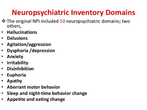 neuropsychiatric inventory questionnaire