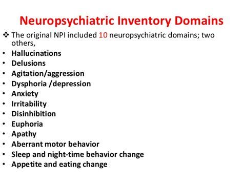 neuropsychiatric inventory questionnaire