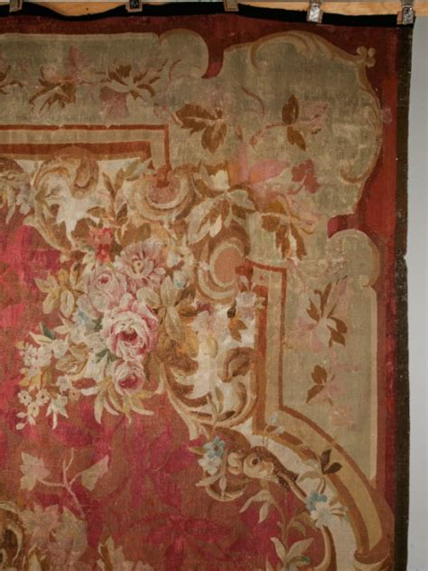 antique french aubusson    rug   stock