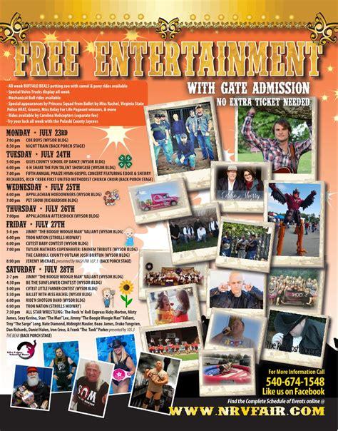 Fair Schedule  New River Valley Fairgrounds