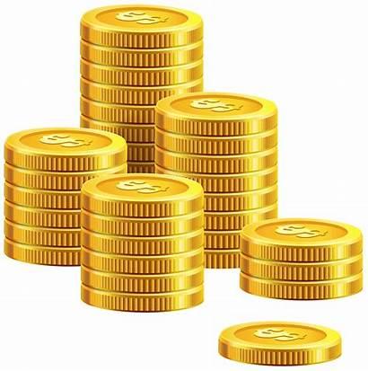 Pile Coins Clipart Clip Money Stack Transparent