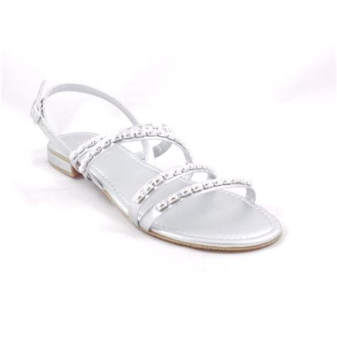 flat silver shoes lotus silver open toe flat strappy sandals lotus from